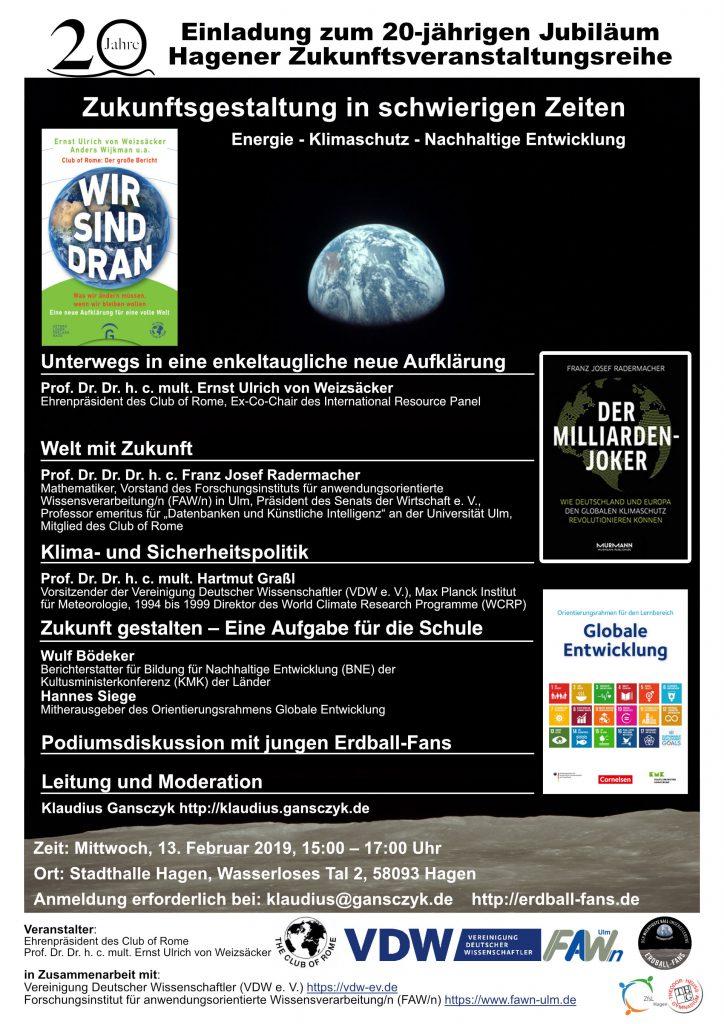 Einladung zur Hagener Jubiläums-Zukunftsveranstaltung in die Stadthalle Hagen
