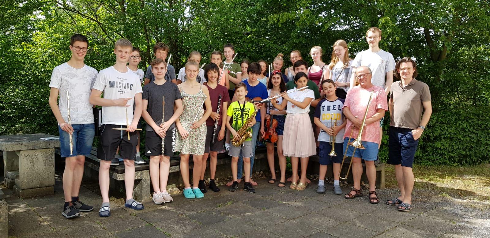 Schulorchester auf Orchesterfahrt