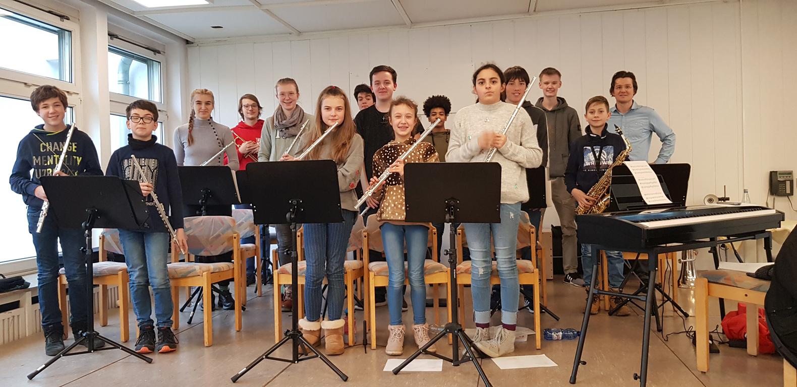 Schulorchester zu Gast im Seniorenzentrum Buschstraße