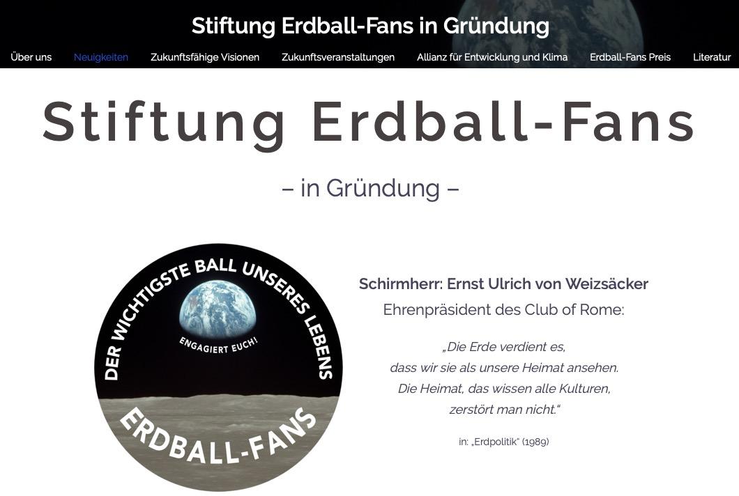 Stiftung Erdball-Fans mit neuer Homepage
