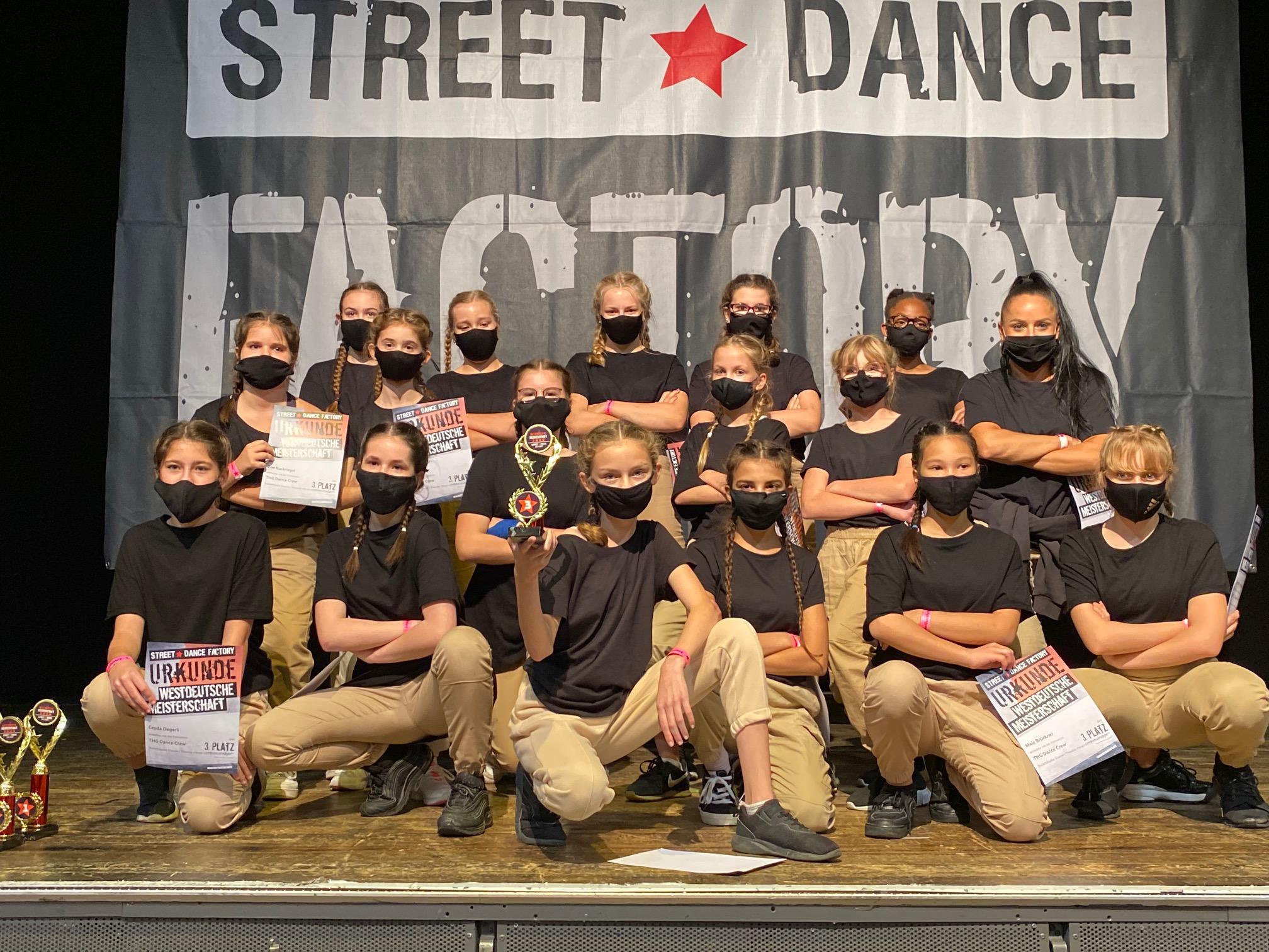 THG Dance Crew bei der Westdeutschen Streetdance Meisterschaft